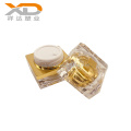 15g 30g 50g Empty gold clear painting square plastic container cosmetic acrylic packaging cream jar
