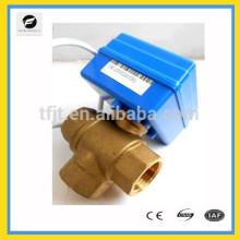 электрический 5 В постоянного тока, 3-ходового клапана двигателя клапан с dn15 и dn20 латунь клапанов, расход Т