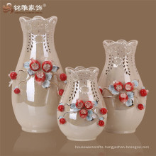China ceramic painting designs Pomegrate flower vase set