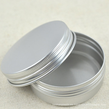 Aluminio plateado de aluminio con tapa de tornillo