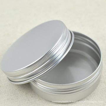 Etui en aluminium argenté avec couvercle à vis