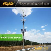 Wind Solar CCTV Kamera System Verwendung 600 Watt Wind Turbine Generator