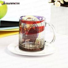 Sunmeta 11oz taza de cerveza de cristal en blanco de sublimación hecho en China a precio competitivo al por mayor