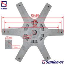 Piezas de fundición a presión de aluminio de placa de reborde hexagonal