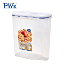 Recipiente de armazenamento plástico do produto comestível com tampa de Filptop