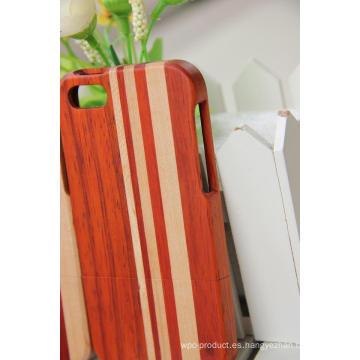 Caja de madera de la venta caliente para iPhone / la mejor calidad para la cubierta de bambú del caso de madera del iPhone