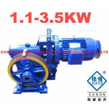 YJF100K Single Speed Elevator Motor Geared Traction Machine