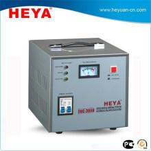 Certificado de la CE Condensador de la tensión del regulador de voltaje de la sola fase 3000VA con la exhibición del metro