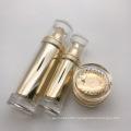 Cosmetic Golden Emulsion Plastic Bottles Acrylic Lotion Pump Bottles in Skin Care Set