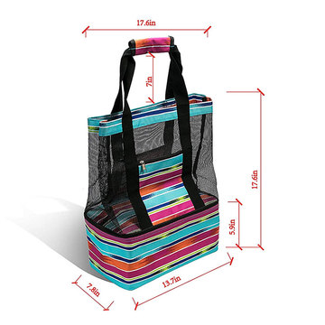 Geïsoleerde Beach Lunch Cooler Soft Pack Bag