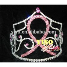 Grande tiara de estilo de fita de cristal