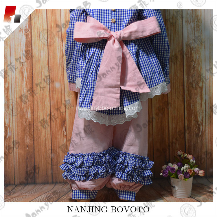 Pink and blue fantasy embroidery suit