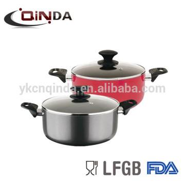 Pot à sauce antiadhésive en aluminium avec couvercle en verre