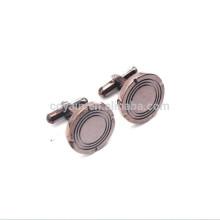 Antike Kupfer überzogene Metall Runde Form Blank Cuff Button