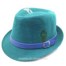 100% algodón para la insignia de encargo precio barato con el casquillo de cuero del cubo de la venda