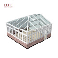 Sunroom en verre préfabriqué de maison de jardin en verre préfabriqué avec profil en aluminium d'extrusion