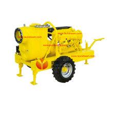 La pompe d'aspiration des eaux usées travaille sur l'auto-apprêt Diesel