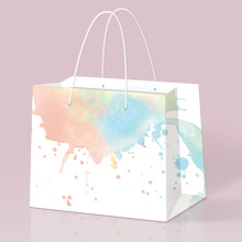 Ventas al por mayor Colored Rigid Wood- Free Paper Bag
