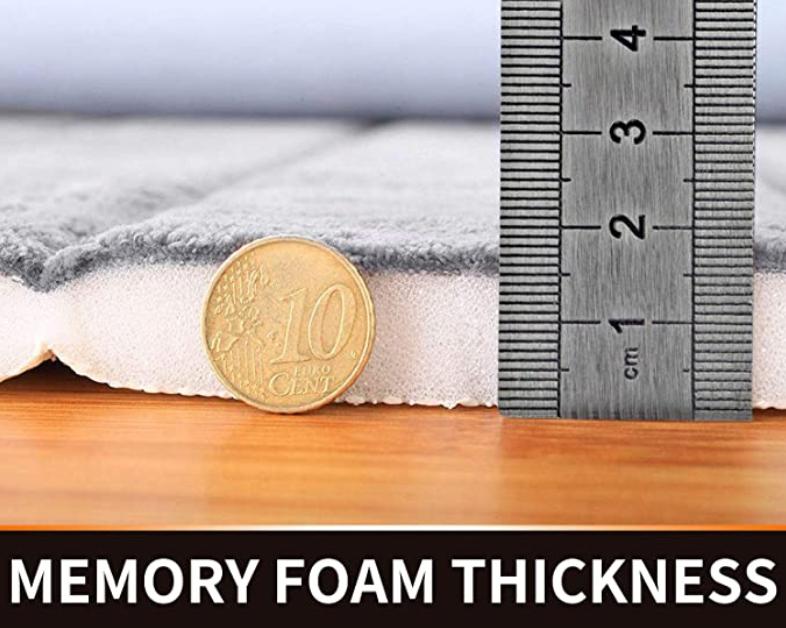Memory Foam Bath Mat Straight Line Quilting D