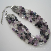 Daking 4 Rows Colourful Natural Gemstone Necklace