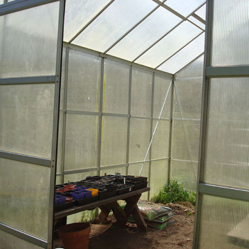 Double Sliding Door for Greenhouse
