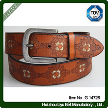 Vintage Flower Belt Hand Painted Leather Belt