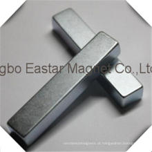N48 Ímã de neodímio bloco com chapeamento do zinco