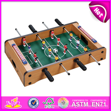 2014 neue Holztisch Foodball Spielzeug für Kinder, Holz Tischfußball Tischfußball, Holzspielzeug Tischfußball für Kinder Fabrik W11A026