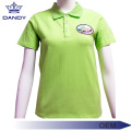 Green Pique Uniform Polo Shirts For Women