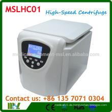 MSLHC01 Tisch-Ultra-Hochgeschwindigkeits-Zentrifugenmaschine / Hochgeschwindigkeitszentrifuge