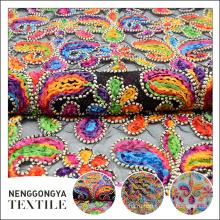 Изготовленный на заказ Логос профессиональные красивые красочные ленты вышивка сетка ткани полиэфира