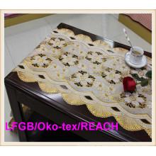 Vinilo dorado y plata PVC Lace Runner / tapetes de mesa en rollos