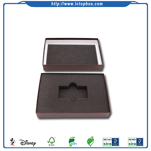 Custom paper boxes with foam insert
