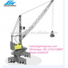 lattice boom grab bucket heavy lifting crane