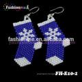 Fashionme handmade jewelry Christmas beaded earrings