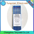 WT-20 2% Rojo Thoriated 2.4mm 3/32 '' TIG electrodos de tungsteno