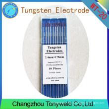 WT-20 2% électrodes de tungstène TIG de 2,4 mm 3/32 '' Thoriated