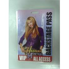 Backstage Pass carte en plastique (HL102)