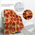 Hamburguesa toallas redondas manta de franela suave confort