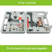 2016 Conjunto de caixa de ferramentas de reparação de bicicleta de alta qualidade