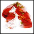 Hot selling fashion printing multicolor lady beach chiffon scarf