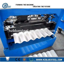 Fully Automatic Roofing Sheet Roll Forming Machine, Big Ribs Corrugated Trapezoidal Sheet Making Machine