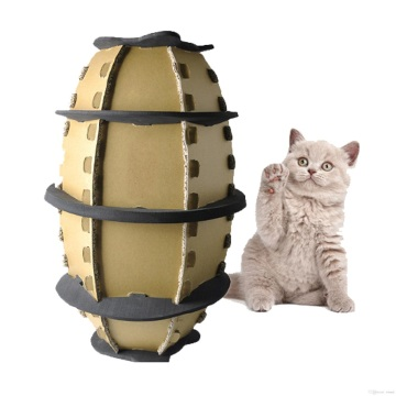 Football Cat Paper Box Pet Toy