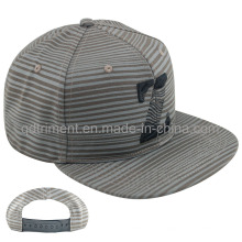 Leisure Screen Print Flat Bill Snapback Cap Hat (TMFL6431)
