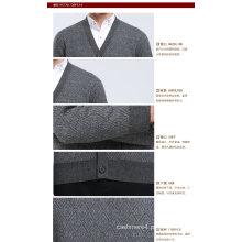 Iaque De Lã / Cashmere V Pescoço Cardigan Camisola De Manga Longa / Vestuário / Vestuário / Malhas