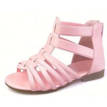 Лето стиль дети сандалии сладкий мода Роман кожаный сандалии для девочки