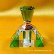 Bouteille de parfum en verre de cristal pour la décoration