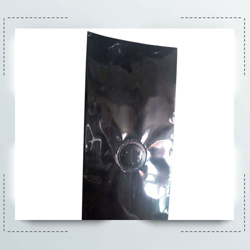 Black Gusset Coffee Packing Pouches with Valve