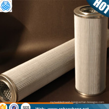 Corrosion resistance 40um 304 stainless steel wire mesh media polymer pleated filter cartridge with thread 222 226 215