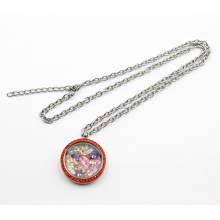 Factory Wholesale Screw on Glass Locket Pendant Necklace for Fashion Gift